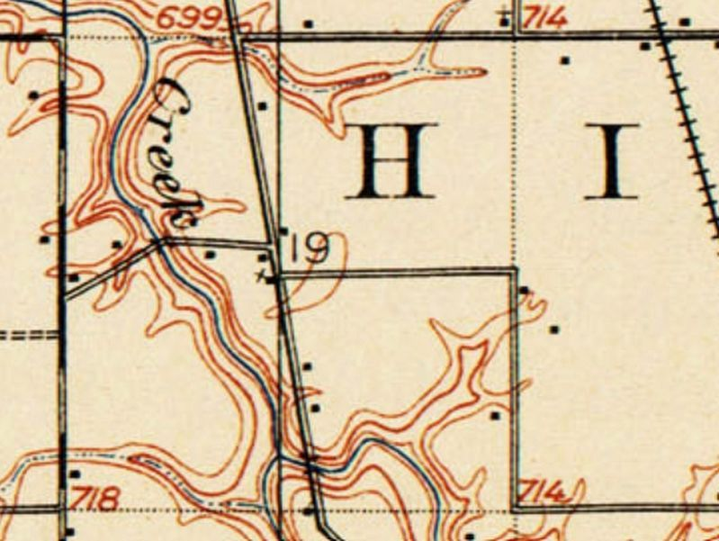 1915 USGS map and the church site image. Click for full size.