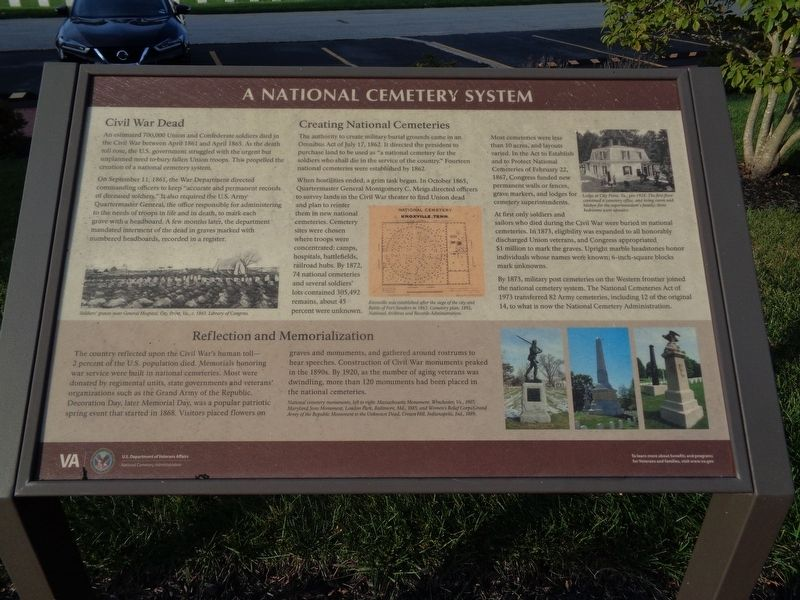 A National Cemetery System Marker image. Click for full size.