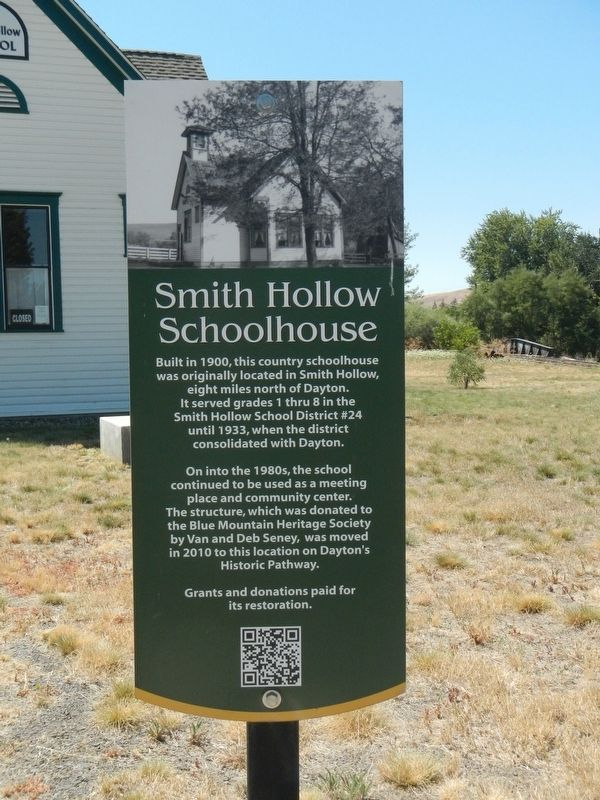 Smith Hollow Schoolhouse Marker image. Click for full size.