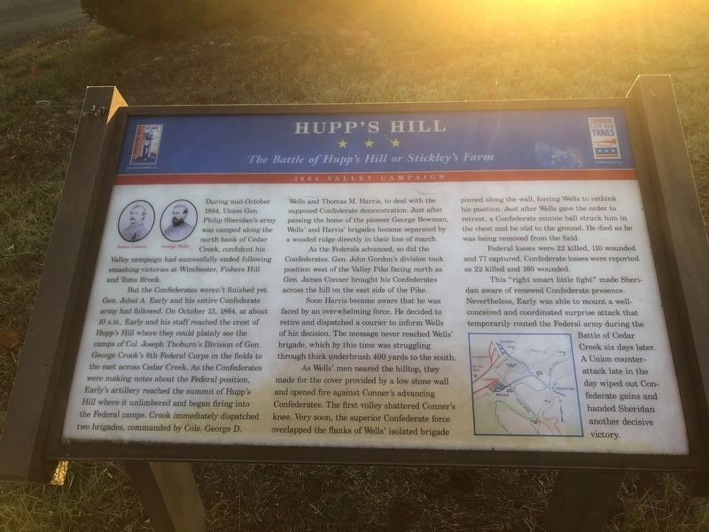 Hupp's Hill Marker image, Touch for more information
