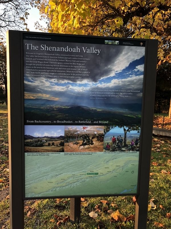 The Shenandoah Valley side of the marker image. Click for full size.