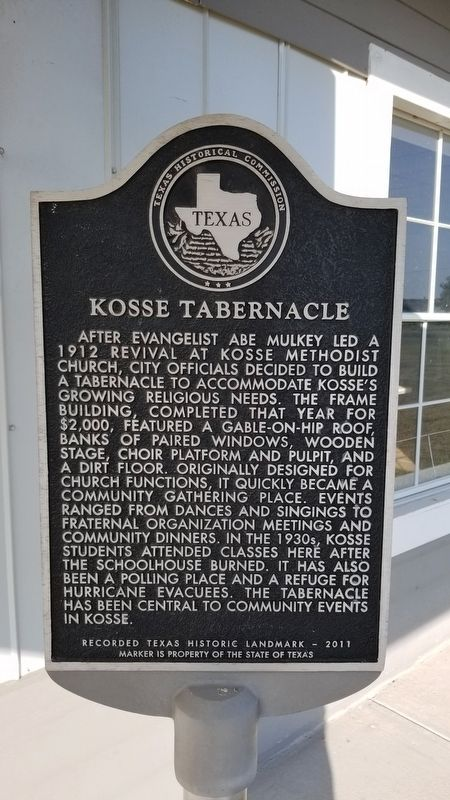 Kosse Tabernacle Marker image. Click for full size.