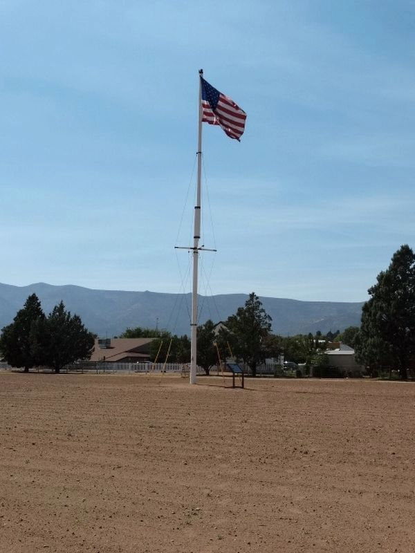 Thee 60 Foot Flagpole image. Click for full size.