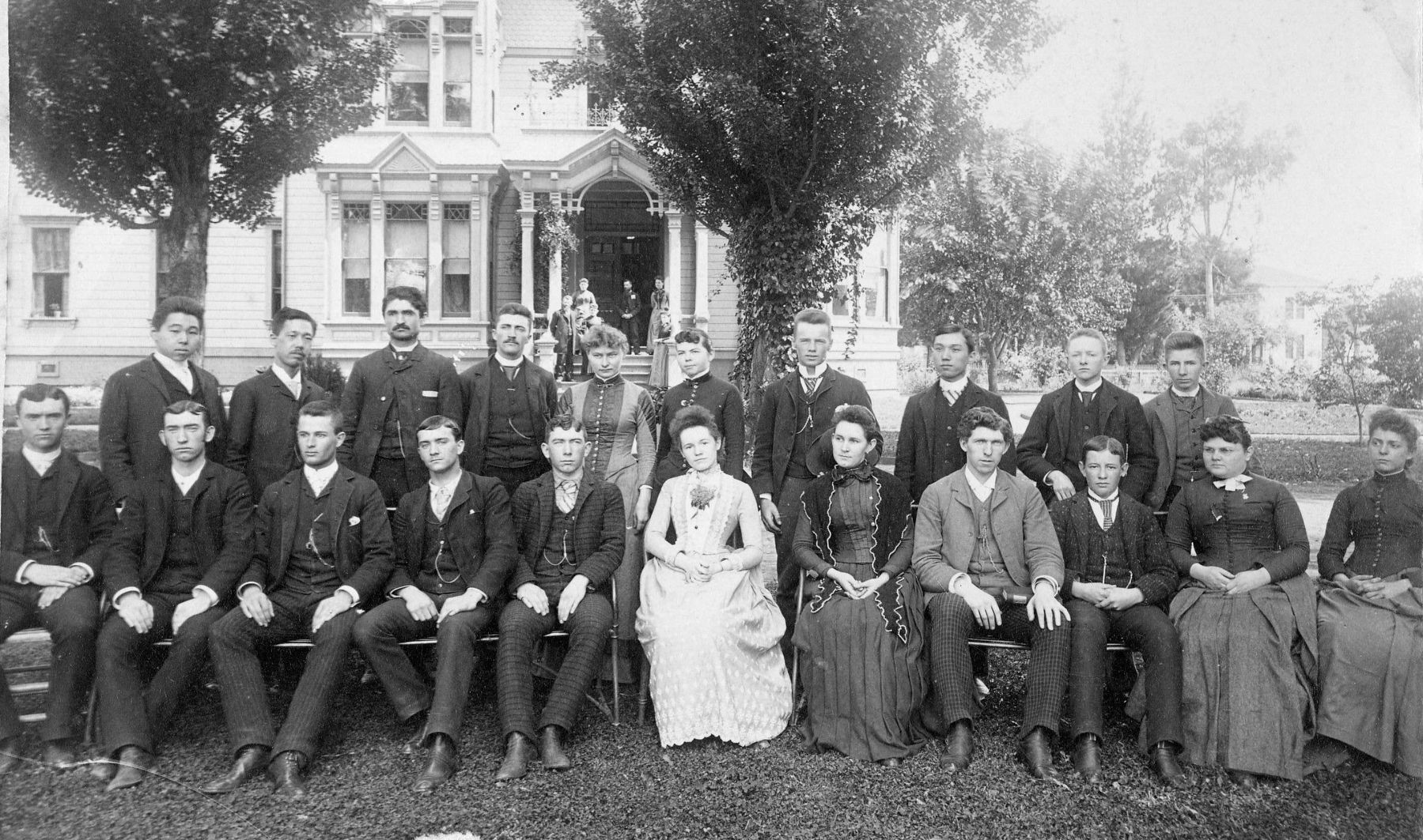 California Wesleyan College class of 1889, Santa Clara CA. image. Click for full size.