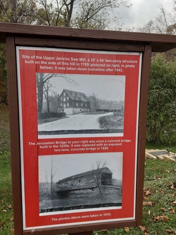 Site of the Upper Jericho Saw Mill Marker image. Click for full size.