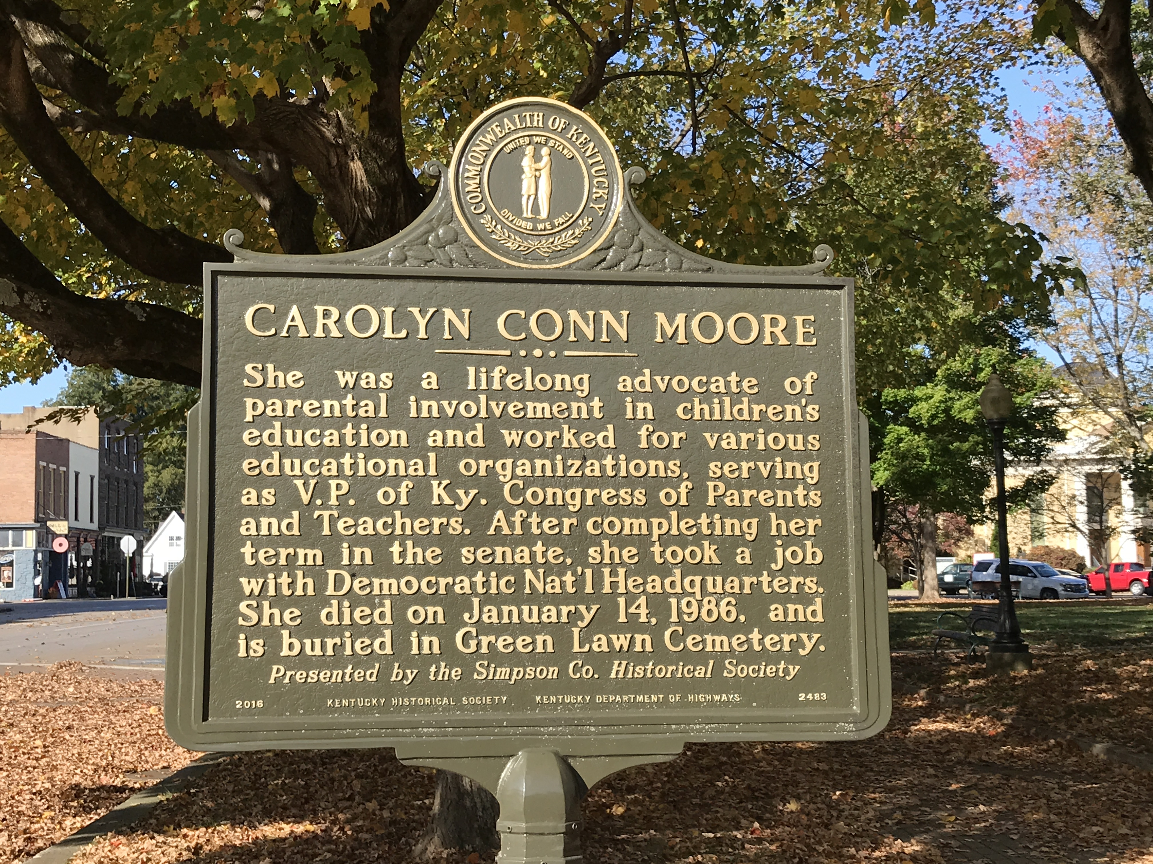 Carolyn Conn Moore Marker (Side 2)