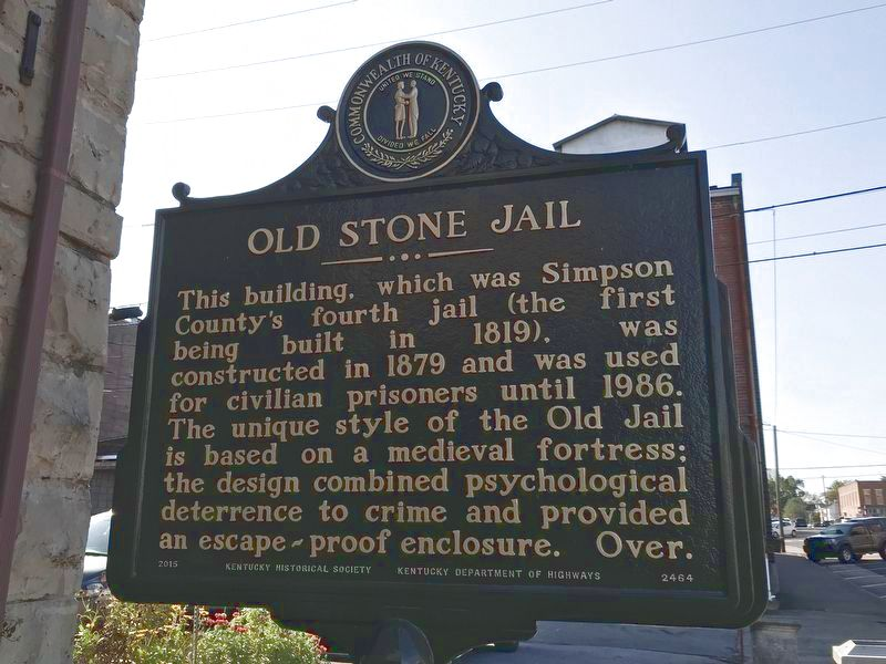 Old Stone Jail Marker image. Click for full size.