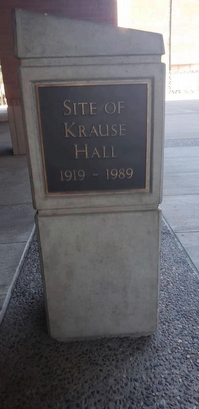 Site of Krause Hall Marker image. Click for full size.