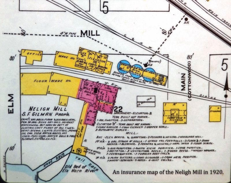 Marker detail: Insurance map of the Neligh Mill (<i>1920</i>) image. Click for full size.