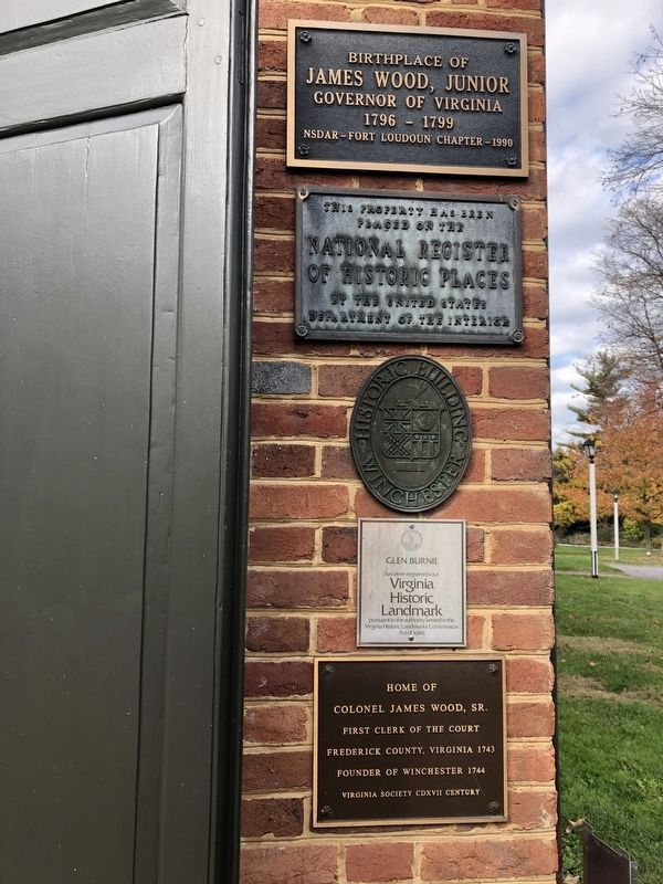 Set of plaques on Glen Burnie image. Click for full size.