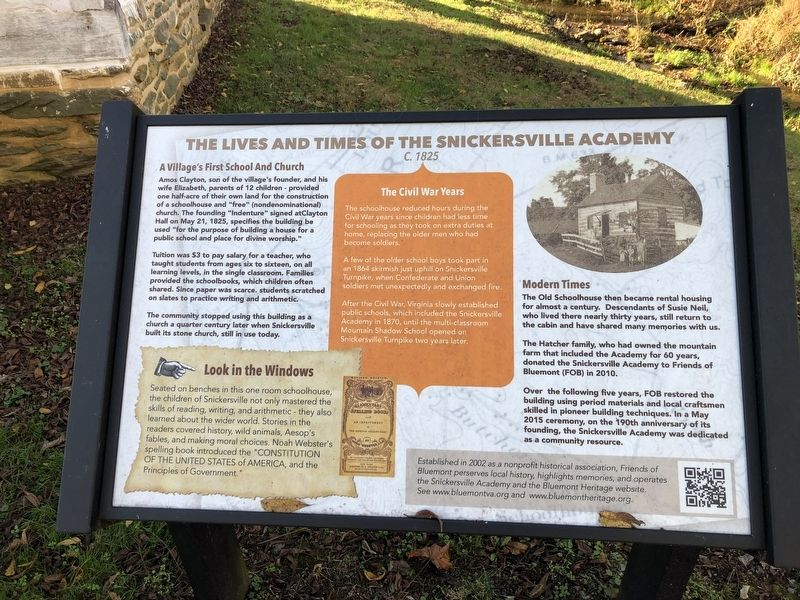 The Lives And Times Of The Snickersville Academy Marker image. Click for full size.