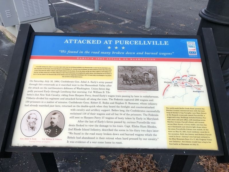 Attacked at Purcellville Marker image. Click for full size.