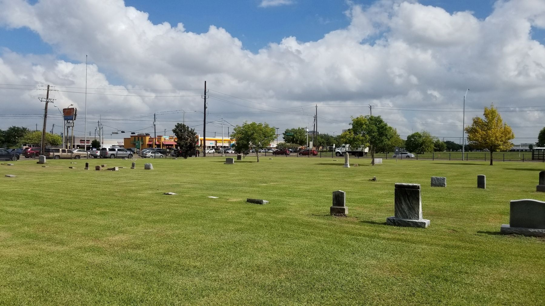 The view of the Alief Cemetery looking toward the street. image. Click for full size.