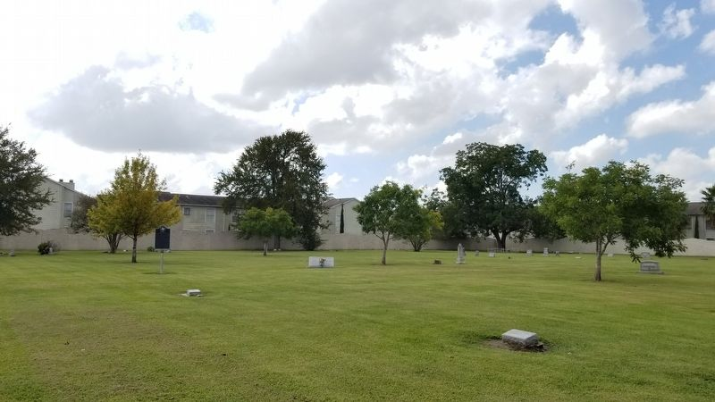 Alief Cemetery and Marker image. Click for full size.