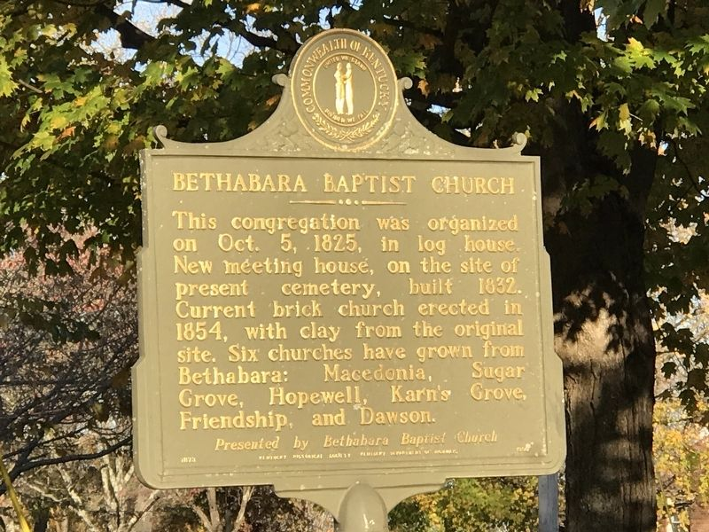 Bethabara Baptist Church Marker image. Click for full size.