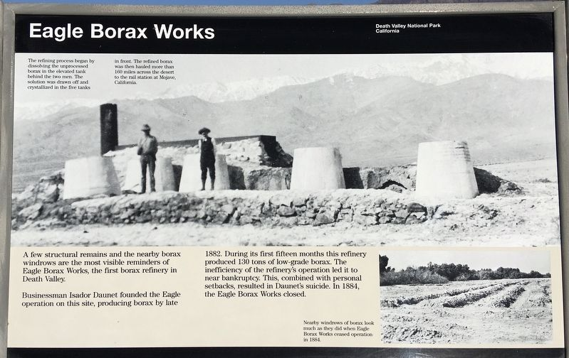 Eagle Borax Works Marker image. Click for full size.