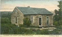 The original Litchfield Law School building image. Click for full size.