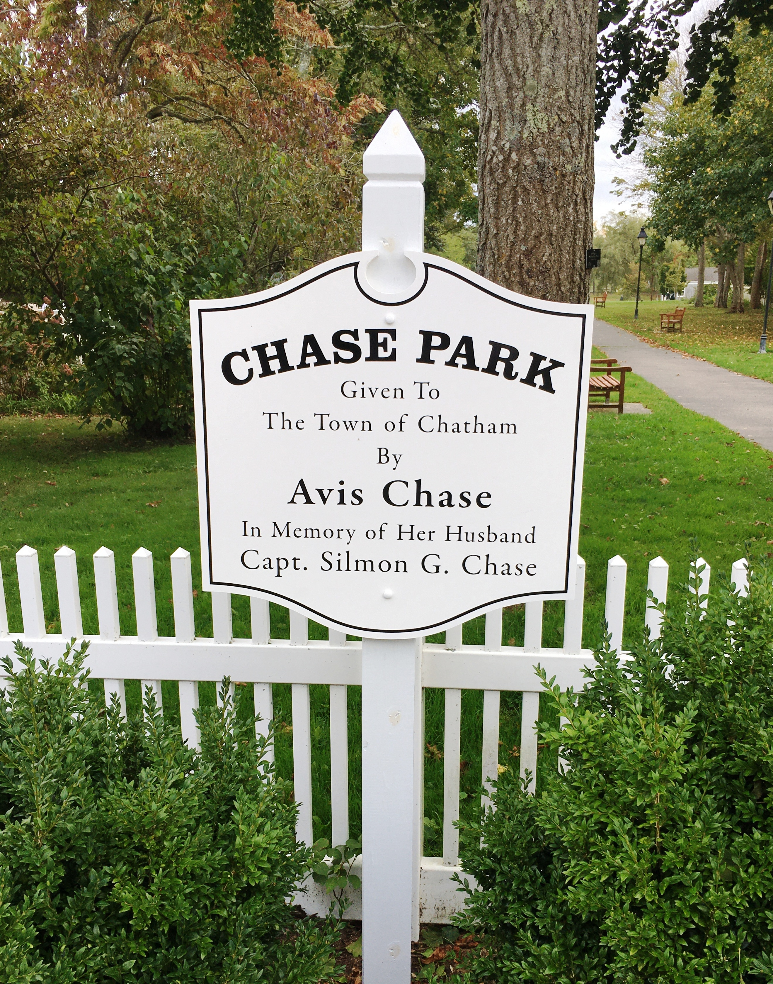 Chase Park Sign