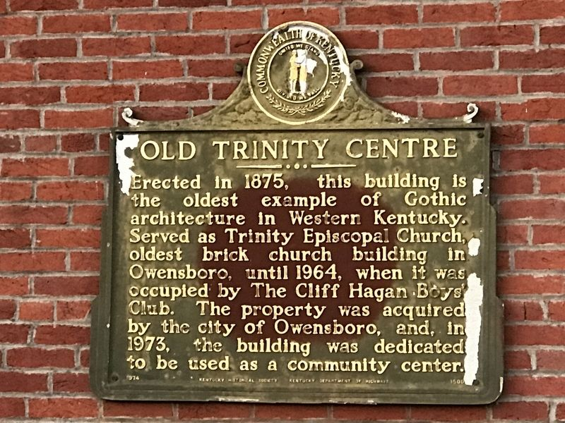 Old Trinity Centre Marker image. Click for full size.