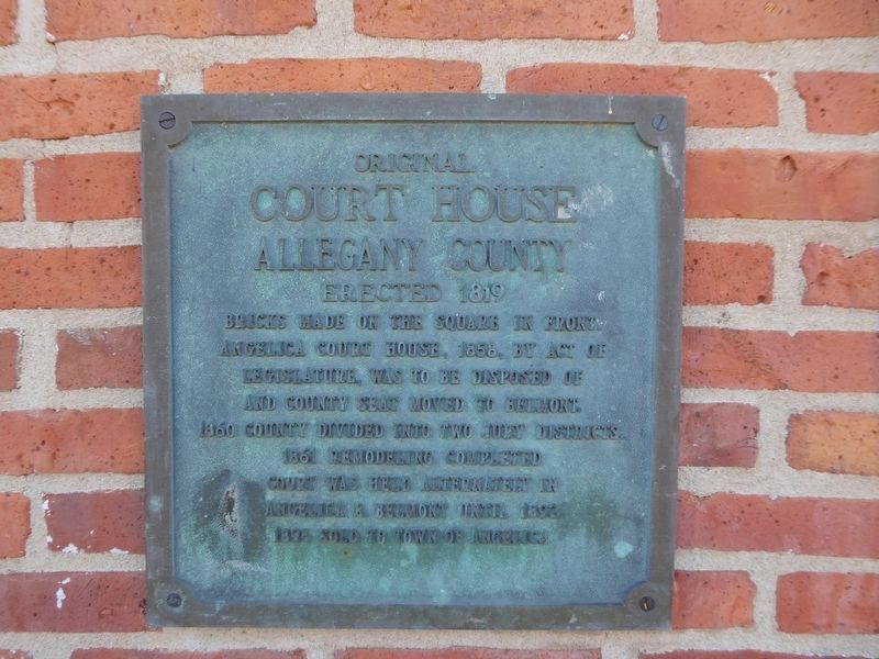Original Court House Marker image. Click for full size.
