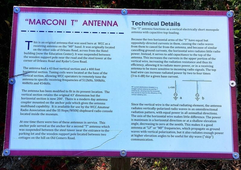 """Marconi T"" Antenna Marker image. Click for full size."