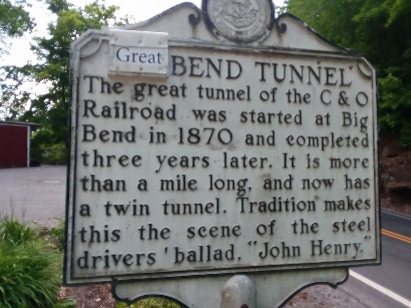 Big Bend Tunnel Marker image. Click for full size.