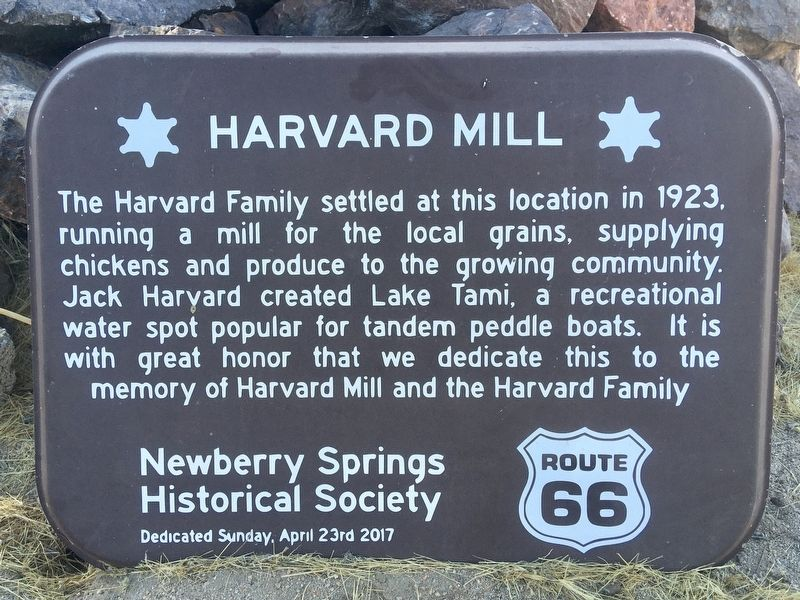 Harvard Mill Marker image. Click for full size.