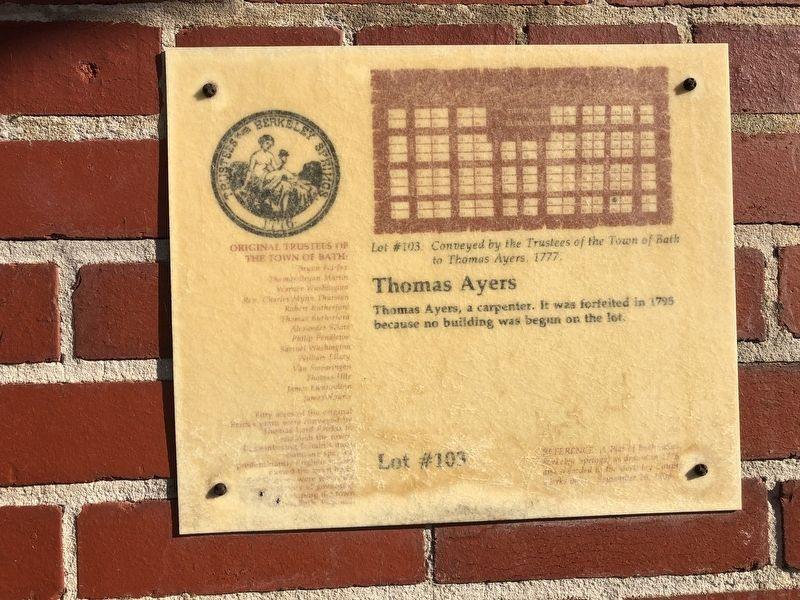 Thomas Ayers Marker image. Click for full size.