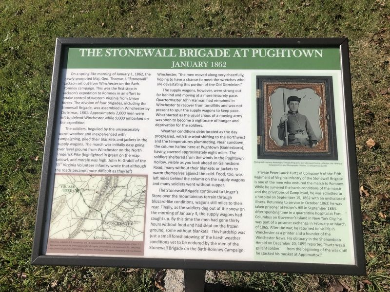 The Stonewall Brigade at Pughtown Marker image. Click for full size.