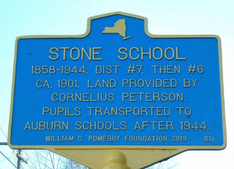 Stone School Marker image. Click for full size.