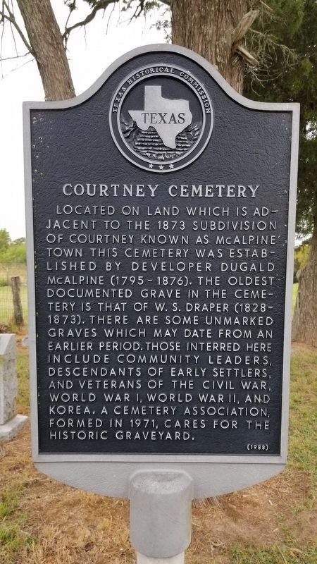 Courtney Cemetery Marker image. Click for full size.