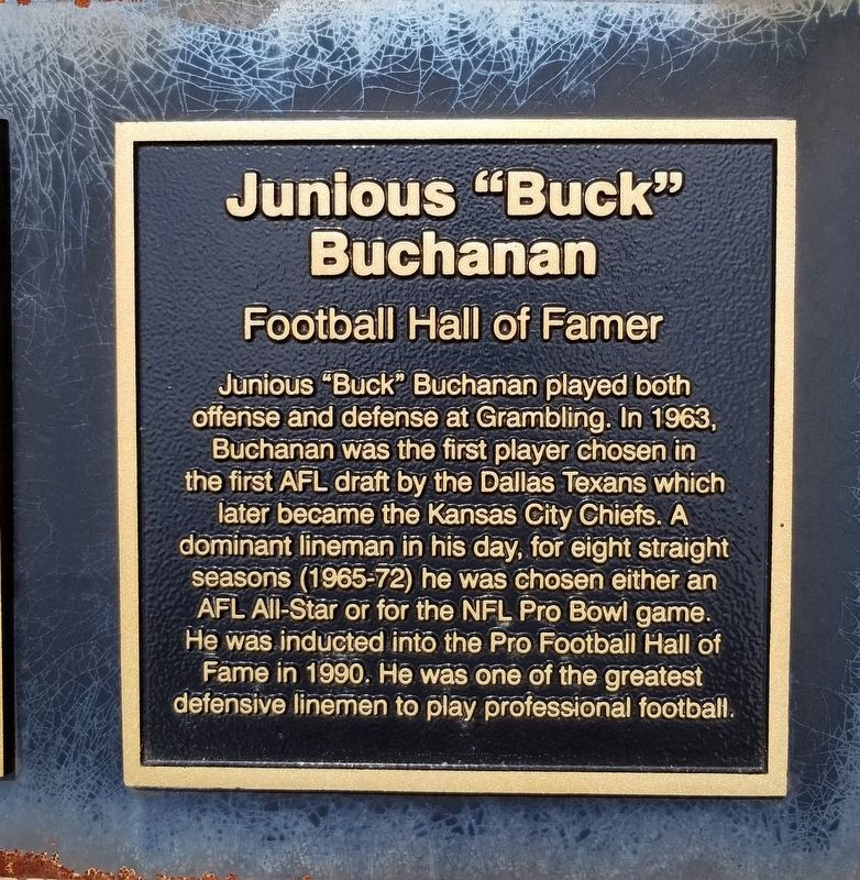 "Junious ""Buck"" Buchanan Marker image. Click for full size."