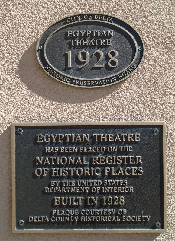 Egyptian Theatre Markers image. Click for full size.