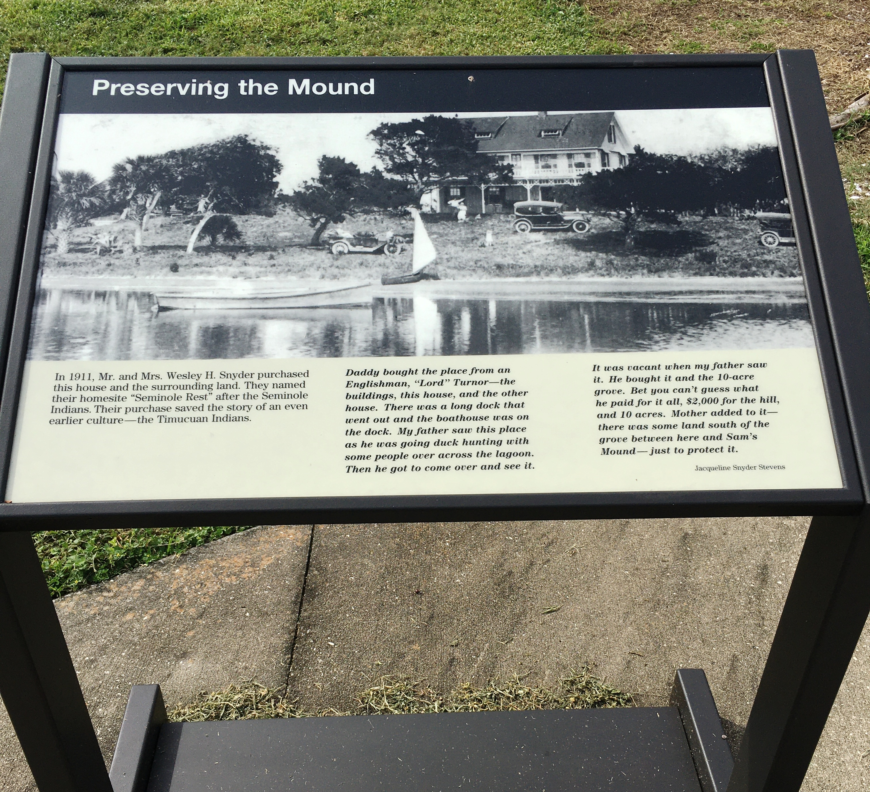 Preserving the Mounds Marker