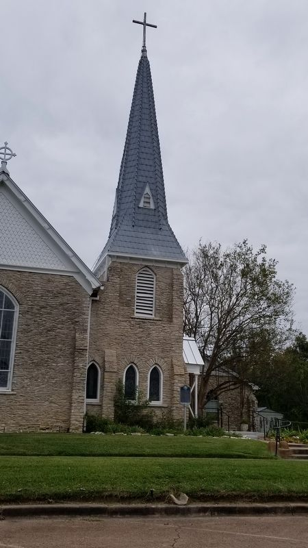 View of the Saint Paul's Episcopal Church from the street and Marker image. Click for full size.