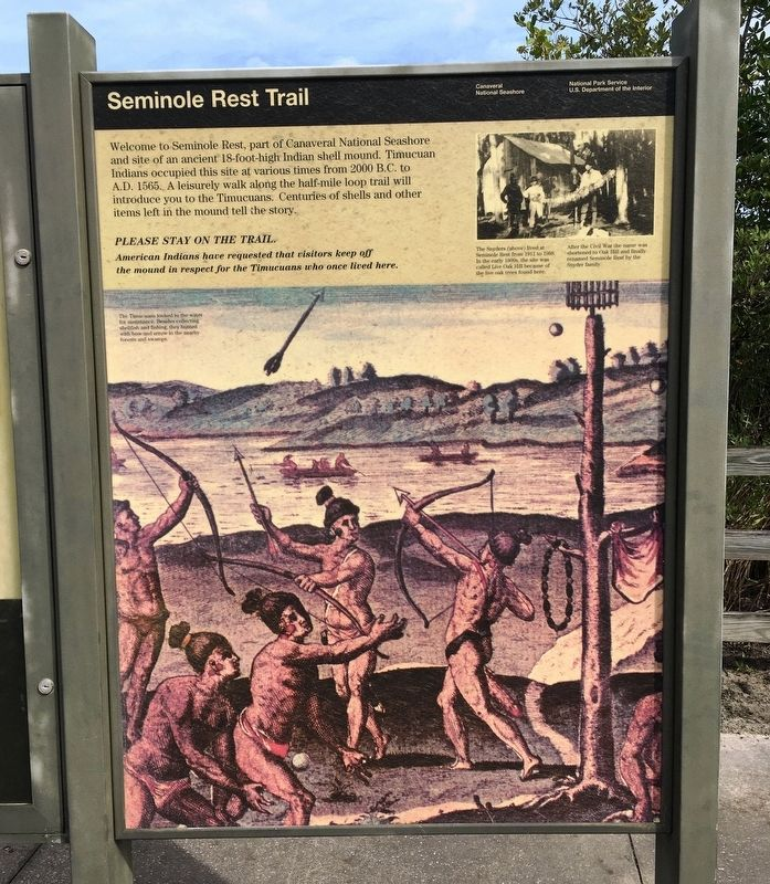 Seminole Rest Trail Marker image. Click for full size.