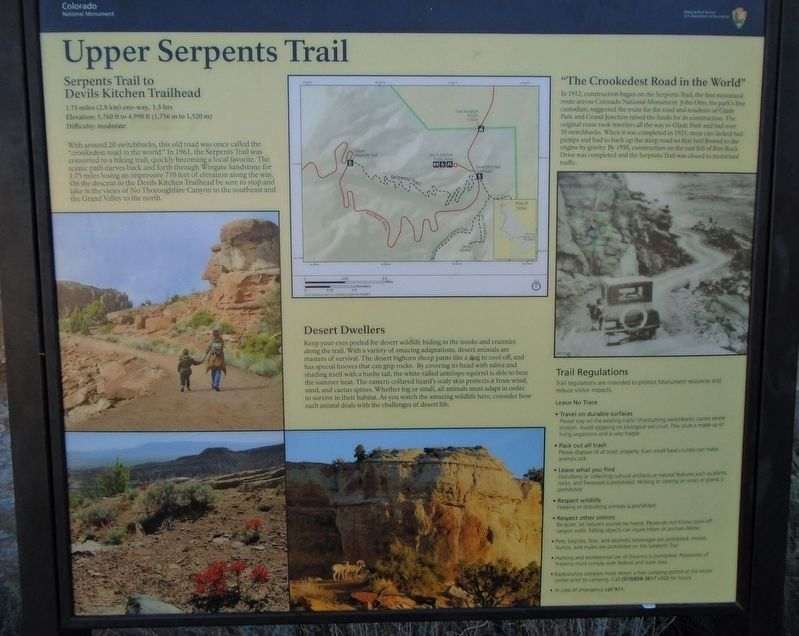 Upper Serpents Trail Marker image. Click for full size.
