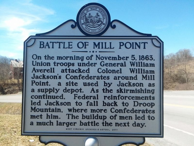 Battle Of Mill Point Marker image. Click for full size.