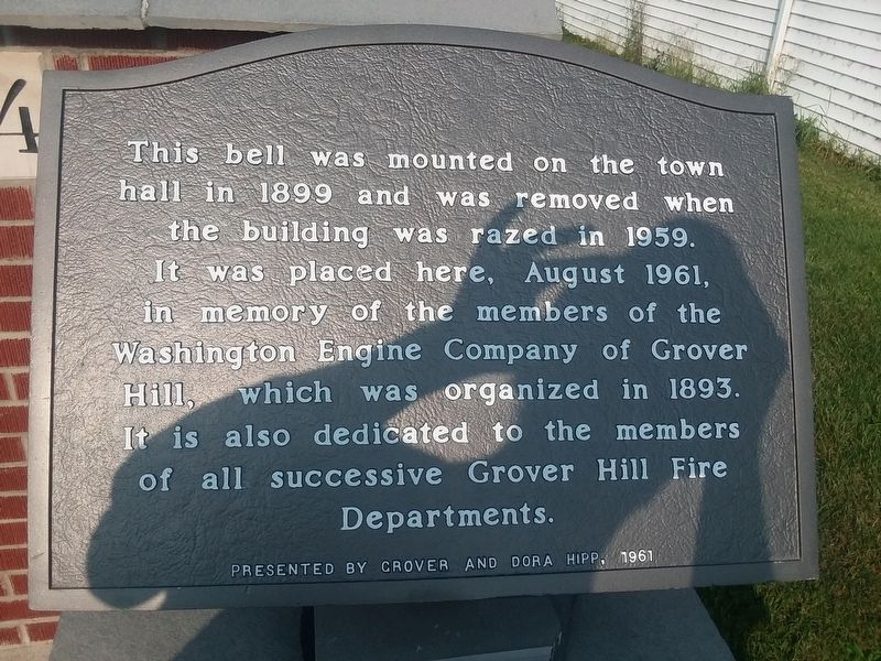Grover Hill Town Hall Bell Marker image. Click for full size.