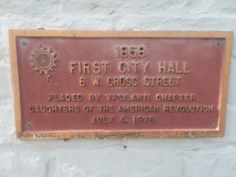 First City Hall Marker image. Click for full size.