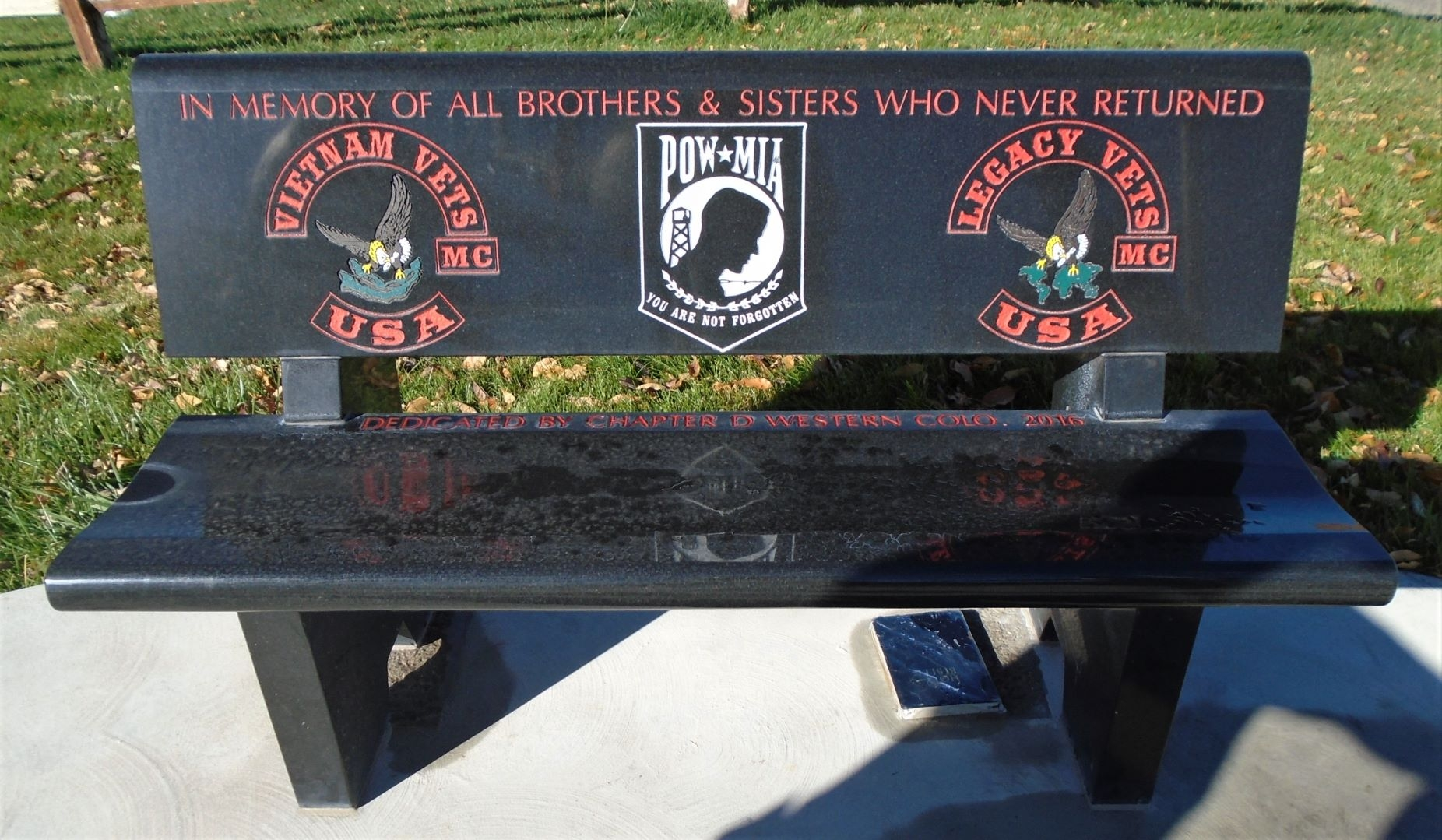 Western Slope Vietnam War Memorial Park Bench