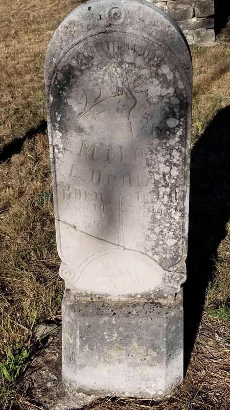 Oldest Marked Grave in the Cemetery - Miles L. Denton image. Click for full size.
