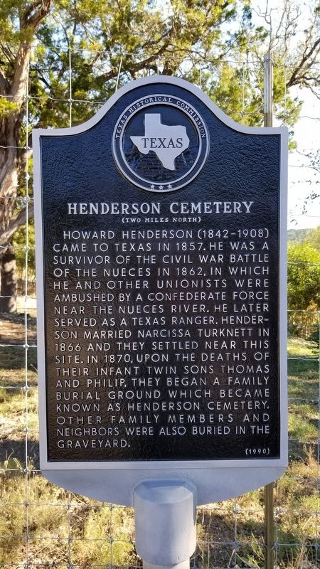Henderson Cemetery Marker image. Click for full size.