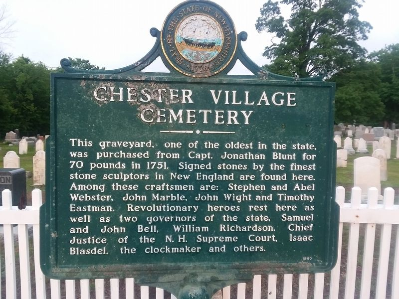 Chester Village Cemetery Marker image. Click for full size.