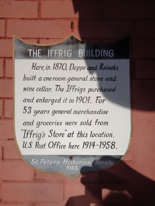 The Iffrig Building Marker image. Click for full size.