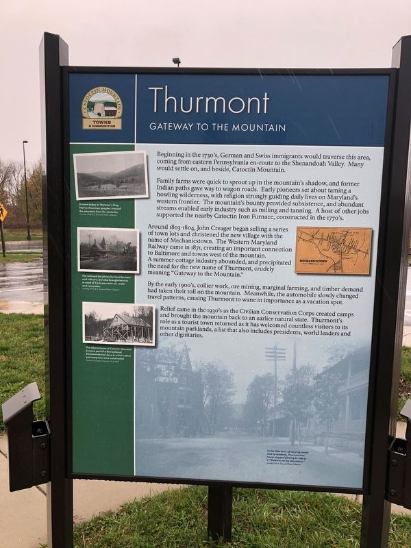 Thurmont Marker image. Click for full size.