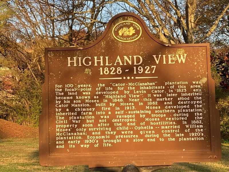 Highland View 1828-1927 image. Click for full size.