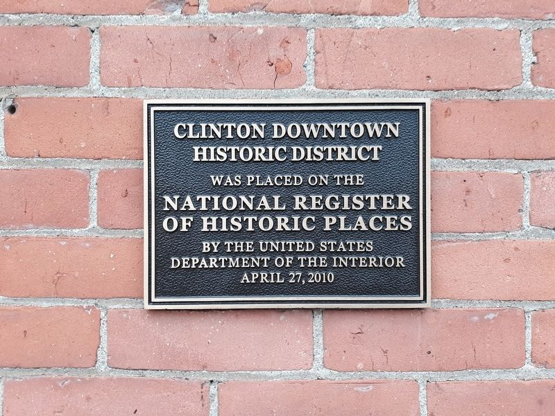 Clinton Downtown Historic District Marker image. Click for full size.