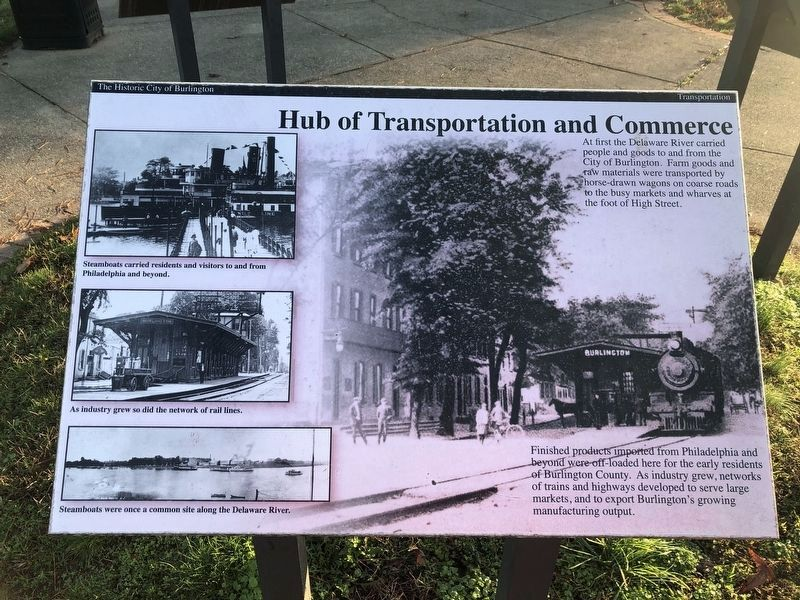 Hub of Transportation and Commerce Marker image. Click for full size.