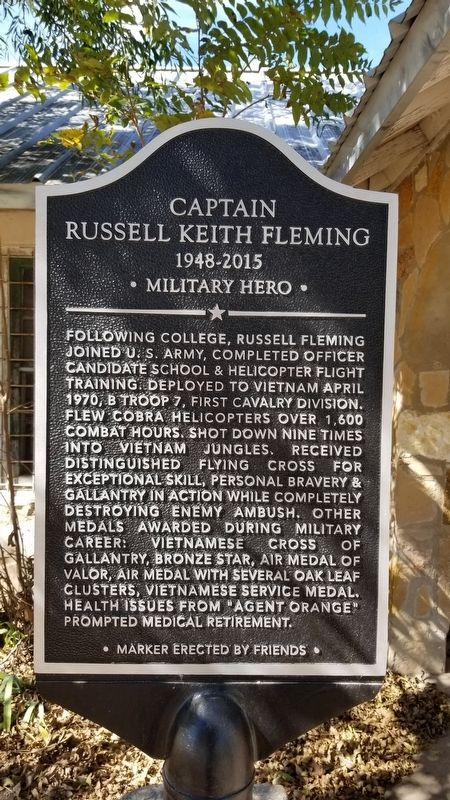 Captain Russell Kieth Fleming Marker image. Click for full size.
